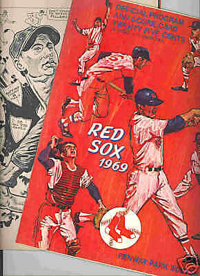 1969 Boston Red Sox Program