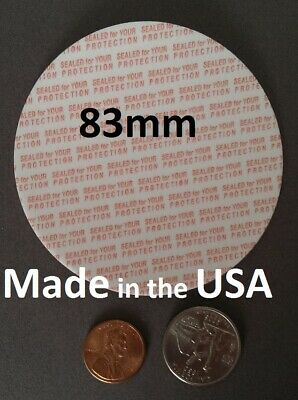 83mm Press & Seal Cap Liners ~ Foam Safety Tamper Seals ~ Made in the USA