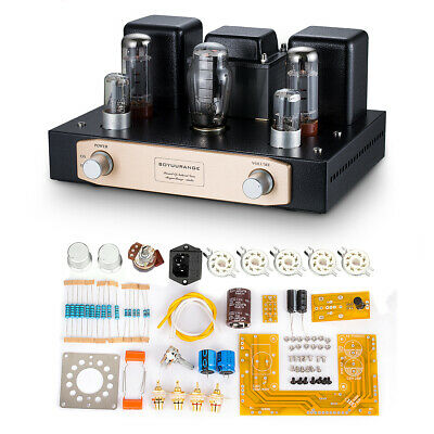 EL34 Vacumm Tube Amplifier Single-ended Class A HiFi Stereo amp DIY KIT 12W+12W