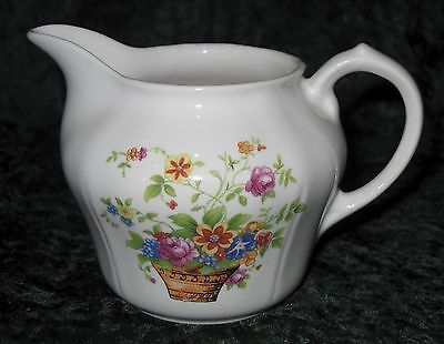 Vintage Knowles Taylor Knowles KT&K Creamer White With Bright Flowers