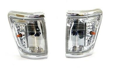 Toyota Hilux 4Wd 88-97 Ln106 Corner Light Lamp Chrome Crystal Lens- Pair