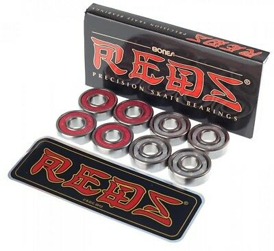 Bones Reds Bearings New FREE POST Fits Skateboard Roller Derby Scooter