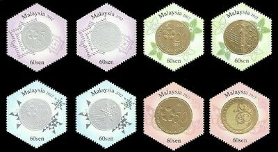 Second Series Of Currency Malaysia 2012 Coin Money (stamp) MNH *unusual *odd
