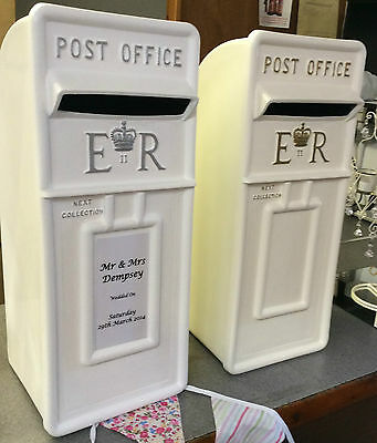 For Hire Wedding Party Card White Silver Postbox Post Box ESSEX
