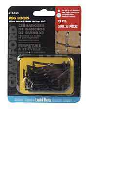 "Crawford 18025 Peg Hook Locks, 1/8"" x 1/4"" pack of 25"