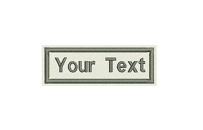 "Rectangular Custom Embroidered Name Tag, Badge  Iron on  or Sew on Patch 3"" x 1"""