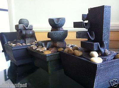 STONE EFFECT INDOOR FOUNTAIN Battery Operated TABLE TOP WATER FOUNTAIN FENG SHUI