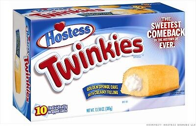 2 Boxes of 10 Individually wrapped Hostess Twinkies from Candy Junction