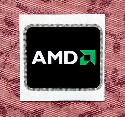 AMD Logo Black Sticker 16 x 19.5mm Case Badge Label USA Seller