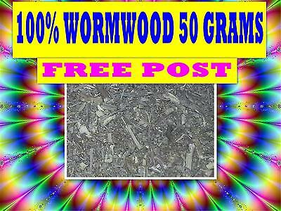 WORMWOOD 50g ☆CERT ORGANIC☆DRIED HERB☆APHRODISIAC☆ PREMIUM STOCK FREE POST☆ SAVE