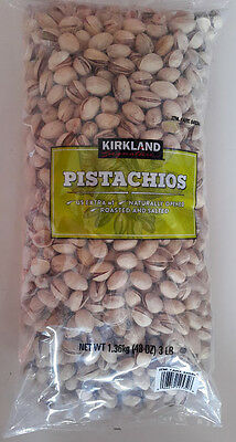 Pistachios California Roasted and Salted 3 LBS Bag,InShell Naturally Opened,Nuts