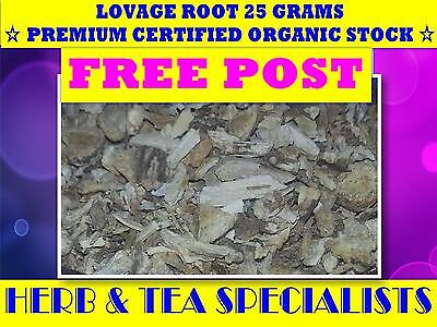 LOVAGE ROOT 25g ☆ Levisticum officinale ☆ CERT ORGANIC  PREMIUM STOCK☆FREE POST