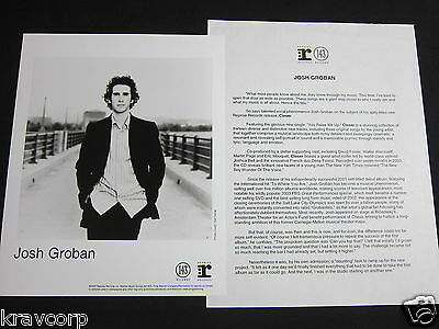 Josh Groban 'Closer' 2003 Press Kit--Photo