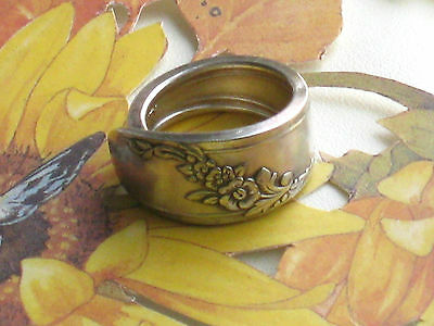 ~QUEEN BESS~Oneida 1946~Custom SPOON RING~Free Ship~PICK YOUR SIZE~