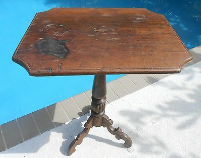 18th Century Look Candle Stand/Table with Antique Top and Antique wood, Gorgeous