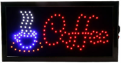 Coffee Club Sign Animated Motin LED Restaurant On/Off Swith Open Light Neon