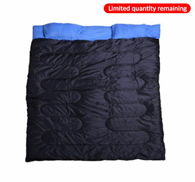 New Camp Camping Travel Sleeping Bag Sleep Cozy Thick Warm Outdoor Double Adult