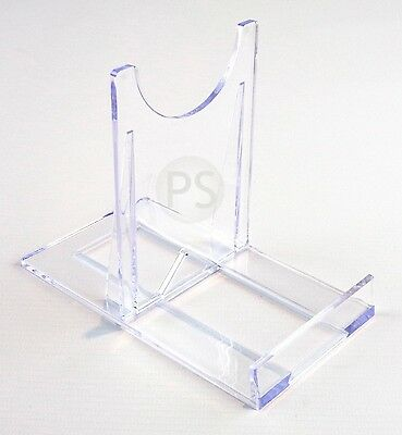 Large Adjustable Stand :Clear Plastic Plate & Bowl Twist Display Stand Support