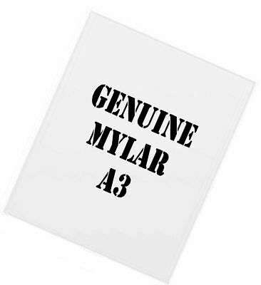 Genuine MYLAR STENCIL Blank Film Sheets LASER SAFE 15 x A4 125 micron REUSABLE