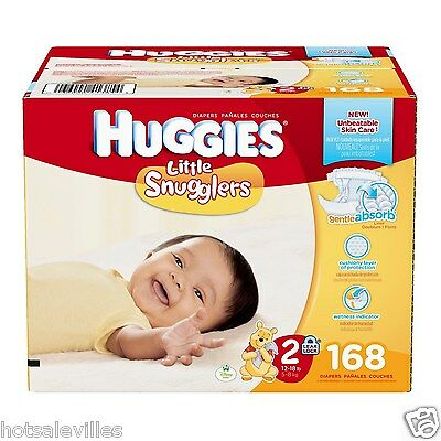 Huggies Little Snugglers Diapers - Size 2 - 168ct  (S0967)