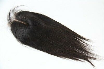 100% Peruvian 6A Virgin Human Remy Hair Lace Top Closure Straight Natural Color