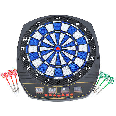 27 Games Voice Dart Board Electronic Dartboard Led  Display Soft Tip w/ 6 Darts