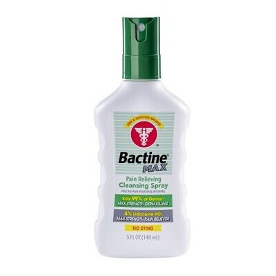 Bayer Bactine Pain Relieving Cleansing Spray Soothing Infection Protection