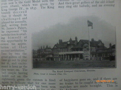 Open Golf Old Photo Article 1907 St Andrews Hoylake Capt Webb Channel Swim 1875