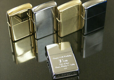 Personalised Zippo Lighters Engraved Free, Fathers Day Birthday Xmas Men's Gift