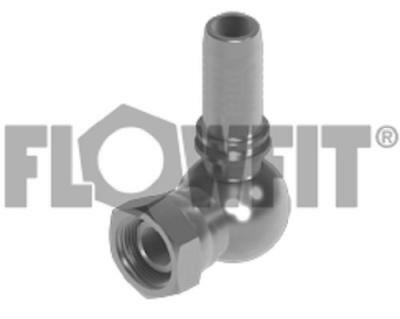 Flowfit Hydraulic BSP swivel female x hose-tail 90° compact