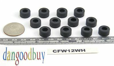 """8  Hard Rubber Bumpers  Feet - 1/2"""" Diameter (For Larger Screw Head) With washer"""