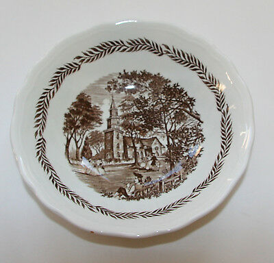 ROYAL STAFFORDSHIRE J&G MEAKIN IRONSTONE COLONIAL BROWN SOUP/SALAD BOWL