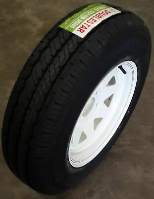 "14"" Sunraysia WHITE Rim FORD pattern fitted with 185R14C Light-Truck Tyre"
