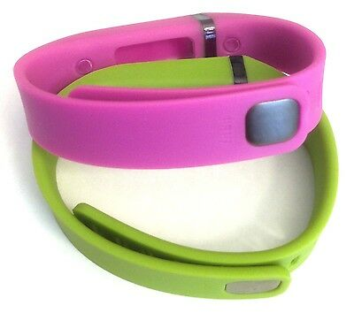 Large 1pc Purple 1pc Lime Green Band With Clasps For Fitbit Flex /No Tracker