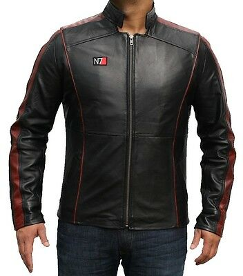 Trendy Mass Effect 3 N7 Video Game Genuine Leather Jacket On Sale!