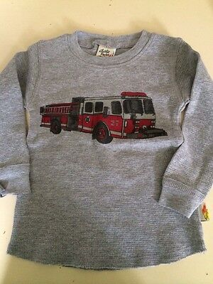 Boys Boutique 6-9 months Charlie Rocket NEW NWT Fire Truck Thermal Shirt L/S
