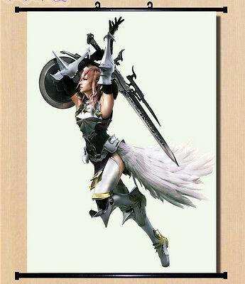 Home Decor Japanese Wall poster Scroll  Final Fantasy 13-2 FF XIII -2 Lightning