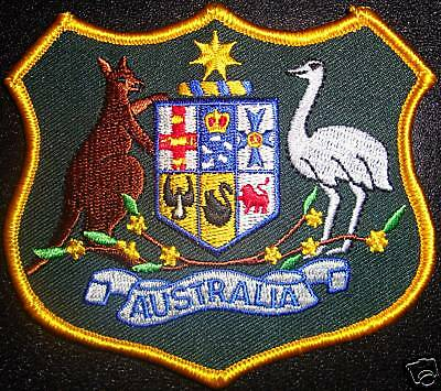 Large Australian Coat Of Arms Embroidered Badge / Patch