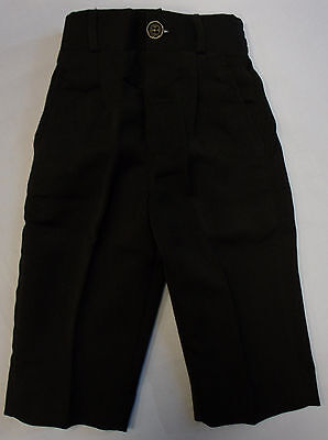 Baby Babies Boys Black Smart Occasional Wear Christening Trousers Bottoms Pants