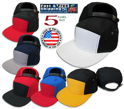 5 Panel Army Hat Camp 2Tone Leather Adjustable JLGUSA Cotton Blend Made in  USA 7d4cceb82abe
