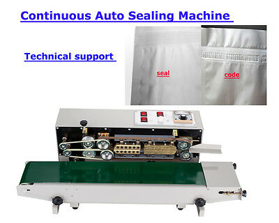 Auto 110V Continuous Sealing Machine Sealer Horizontal PVC Membrane Film Bag