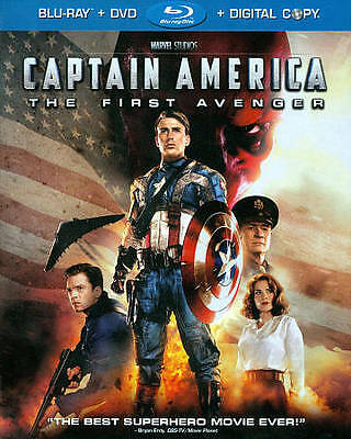 Captain America The First Avenger Blu-ray/DVD 2-Disc Set 2011 Chris Evans Hugo
