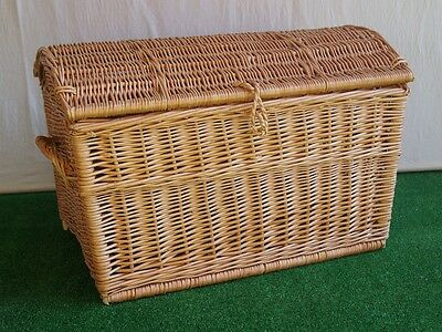 WICKER CHEST STORAGE Trunk Solution Willow Box Toy Blanket Linen Large Pirate 60