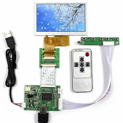 HDMI input lcd driver board 4.3inch 480x272 AT043TN24 LCD panel with remotel