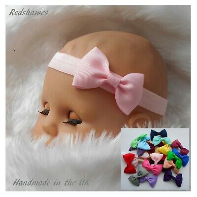 Grosgrain Bow Baby Headband - (Colours) Different sizes available FREE POSTAGE