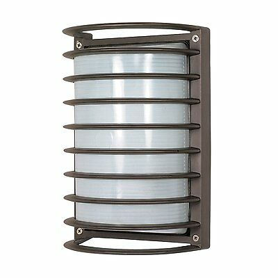 Nuvo Lighting 60-577 Fluorescent Rectangle Cage Bulk Head Outdoor Sconce