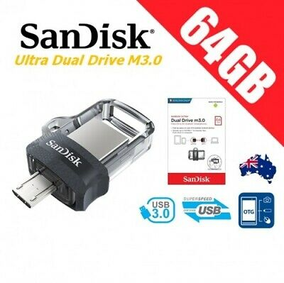 SanDisk 64GB OTG Ultra Dual USB Flash Drive Micro USB 3.0 Smart Phone Storage