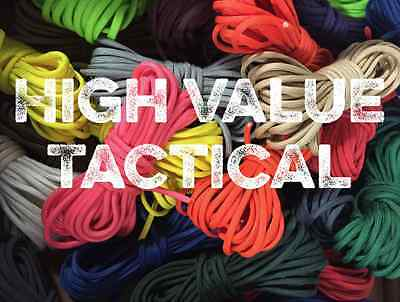 550 Paracord Mil Spec Type III 7 Strand Parachute Cord 10, 20, 50, 100 ft