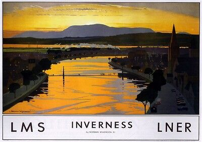 077 Vintage Railway Art Poster - Inverness
