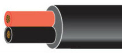 SOLD BY THE METRE RED + BLACK 14 AMP .75mm ROUND 2 CORE AUTO MARINE CABLE 12 24V